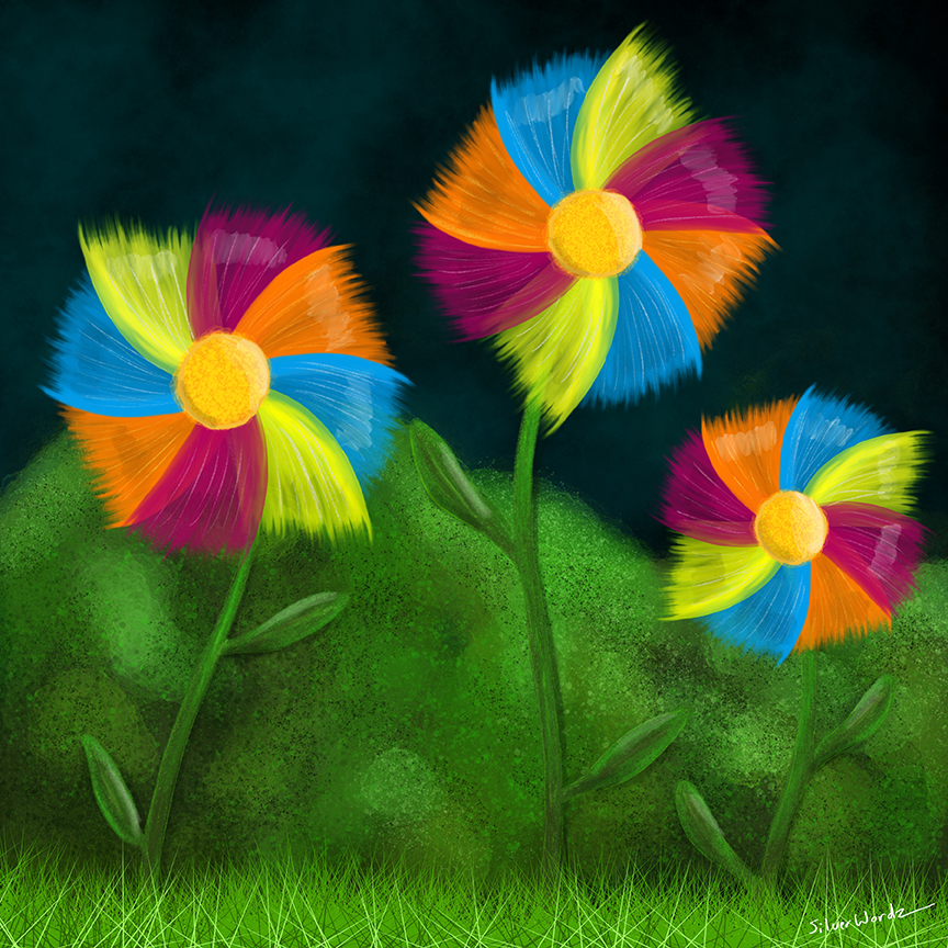 Bright Pinwheels June 17 2018