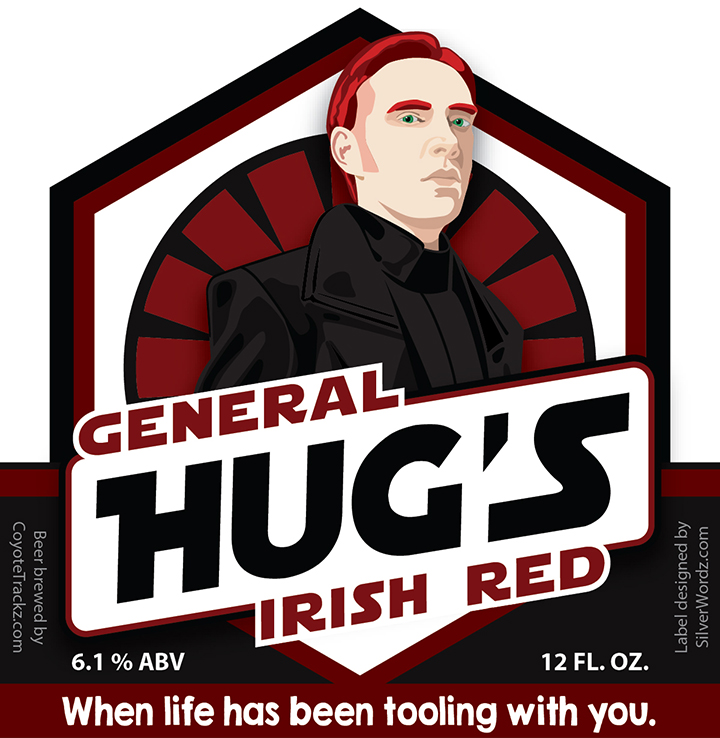 General Hugs Beer Label April 1 2019