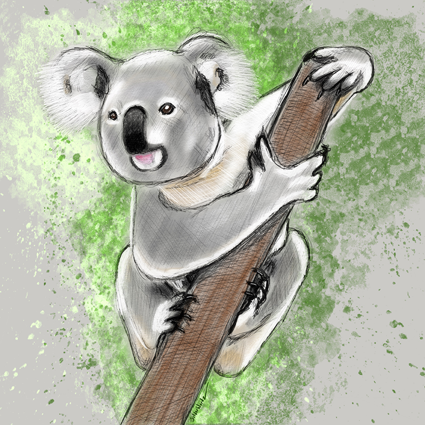 Inktober Koala October 4 2018